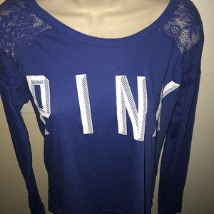 PINK Lace shoulders top